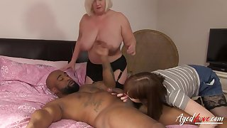 AgedLovE Hardcore Mature Interracial Threesome