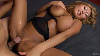 Japanese big Breast blonde hardcore action