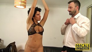 Tied Up Blindfolded Big-Bosomed Mom Submissive - Hard Sex