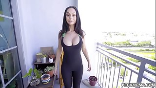 after she polish off her training this unreserved gets her pussy pounded by a guy