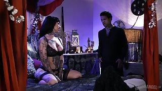 Australian tattooed hooker Jessie Lee is fucked by furious tattooed lady's man