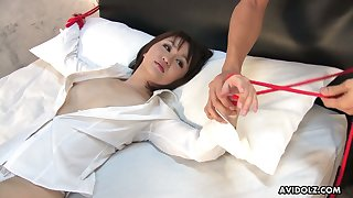 Asian milf Runa Kanzaki gets her pussy slammed and creampied