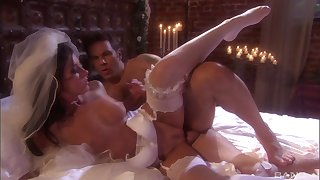 Firsthand bride India Summer gets a hardcore first wedding night sex