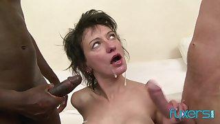 Zazala Coquine interracial anal trinity