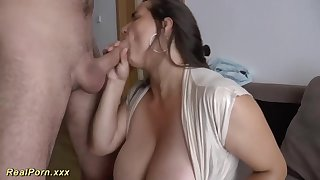 German female is providing awesome titjobs to the brush folks, and loving every single 2nd of it