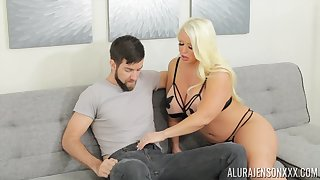 Blonde MILF Alura Jenson wants cum all over the brush huge breasts