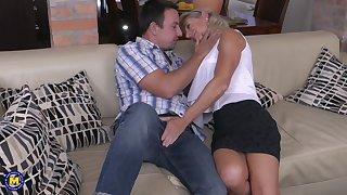 Kermis of age MILF Josefine N. gets a hard missionary fuck