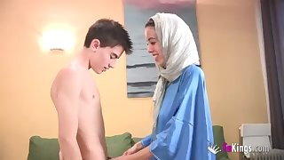 We surprise Jordi wits gettin him his first-ever Arab chick! thin teenage hijab