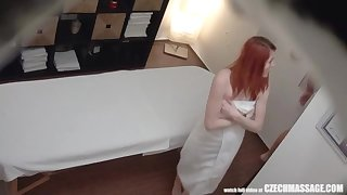 Red-Haired Teenage has Heavy Unprotected FUCK-A-THON with Masseuse