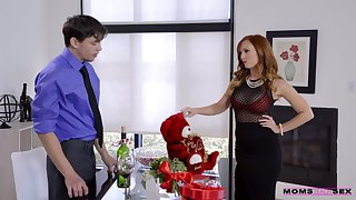Red haired stepmom Dani Jensen is fucking will not hear of handsome stepson