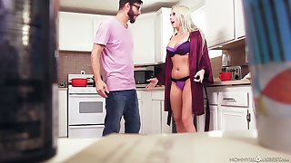 Stunning light haired Christie Stevens has a chance to roughly BJ and titjob