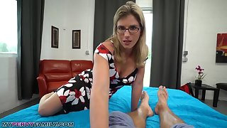 Slutty Mom Cory Chase Gives Step Son a Helping Reject b do away with and Pussy