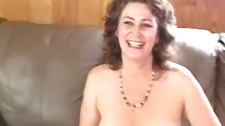 Horny bubbly mature skirt passionately touches herself