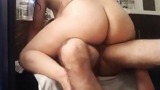 Nice cellulitic round latin ass riding