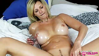 Solo masturbation with spread legs Canadian Milf Dorene