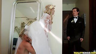 Big wedding day turns to hard threesome for Lexi Lore and her friends