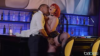 Ravenous redhead Gia Paige fucked rather hard in the club