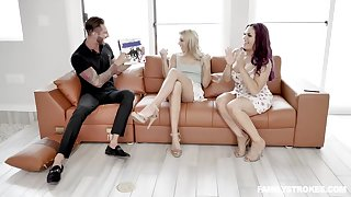 Chanel Grey is fucking her best friend's partner in front of her and enjoying it a lot